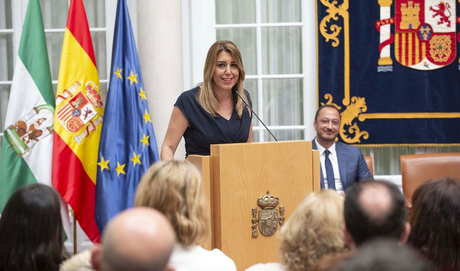 Intervención de la presidenta de la Junta, Susana Díaz, en la toma de posesión del delegado del Gobierno en Andalucía