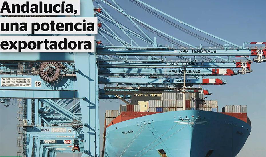 Animación gráfica sobre el balance de exportaciones en el primer cuatrimestre de 2018 (vídeo mp4)