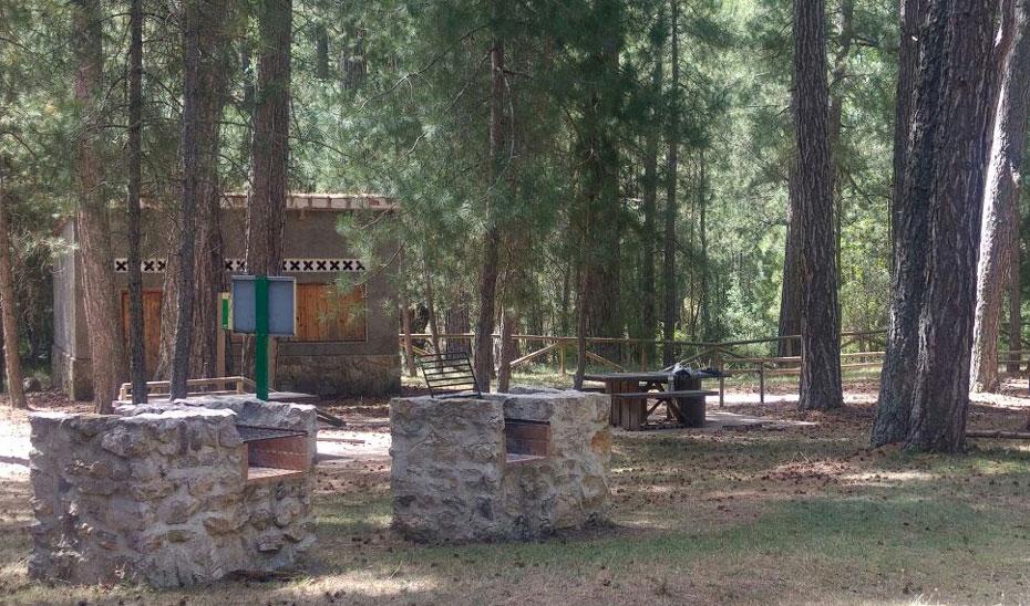 Imagen de la zona de acampada Los Negros en el Parque Natural de las Sierras de Cazorla, Segura y Las Villas (Jaén).