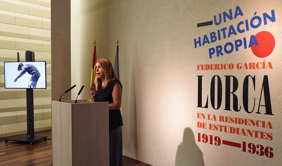 """Susana Díaz valora el regreso del legado de Lorca, """"el andaluz más universal"""", a Granada"""