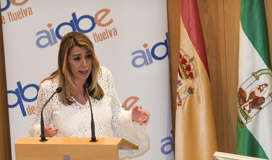 Intervención de Susana Díaz en la la presentación de la memoria de la AIQBE de Huelva de 2017