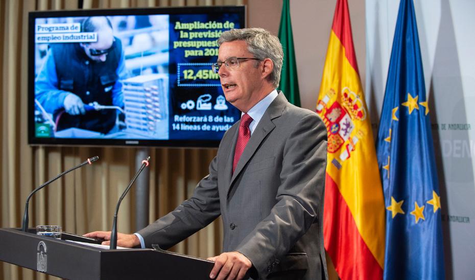 Blanco anuncia 12,45 millones más para el Programa de empleo industrial en 2019