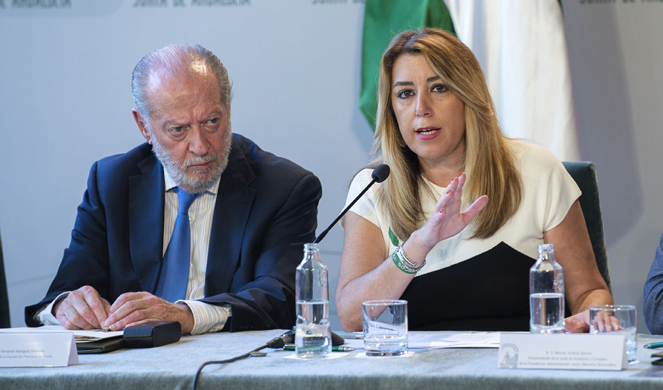 Susana Díaz avanza que el CPFF incluirá el inicio de los trabajos sobre la financiación autonómica