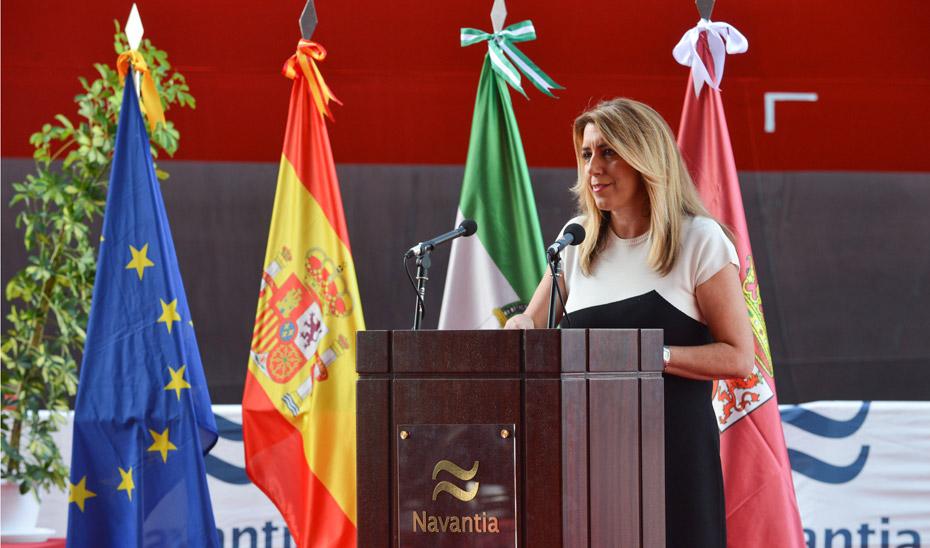 Intervención de la Presidenta de la Junta de Andalucía en la entrega del buque Monte Urbasa