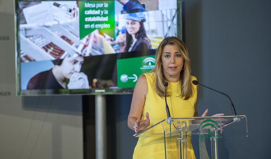 Intervención de Susana Díaz en la firma del Acuerdo por la calidad y la estabilidad en el empleo