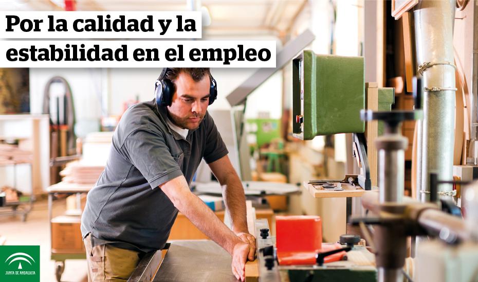 Animación gráfica sobre el Acuerdo por la estabilidad y la calidad en el empleo en Andalucía