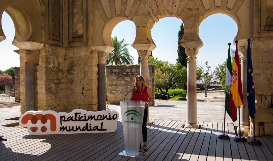 Susana Díaz destaca que Medina Azahara duplica sus visitas tras la designación de la UNESCO