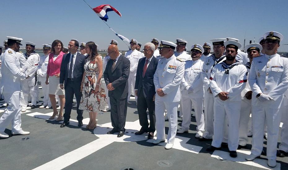 El vicepresidente acude a la entrega de un Buque de Acción Marítima de Navantia a la Armada