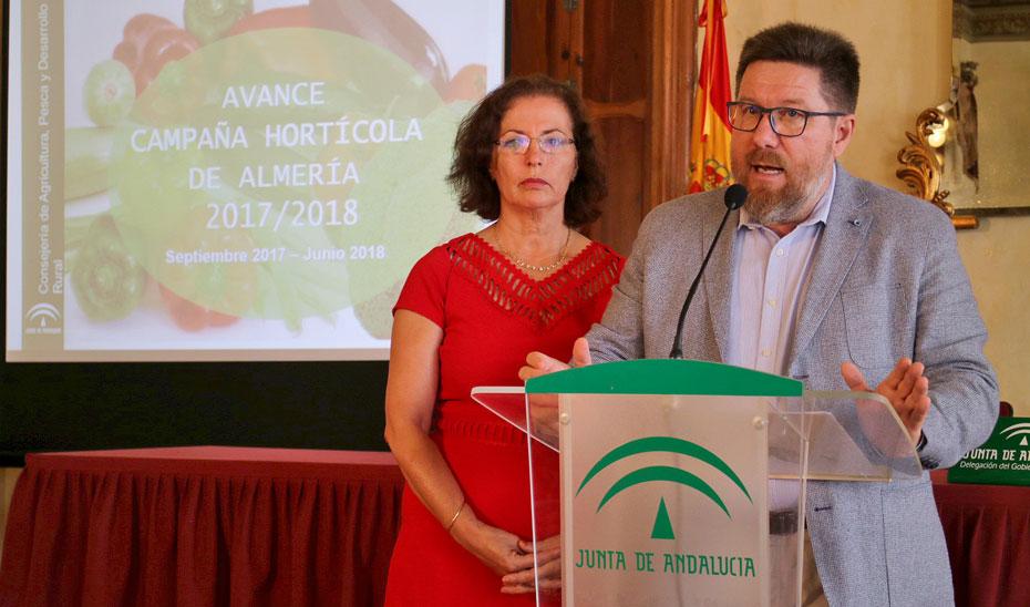 El consejero Rodrigo Sánchez Haro asegura que las cifras de la campaña hortofrutícola de Almería indican que son las segundas mejores de todos los tiempos.