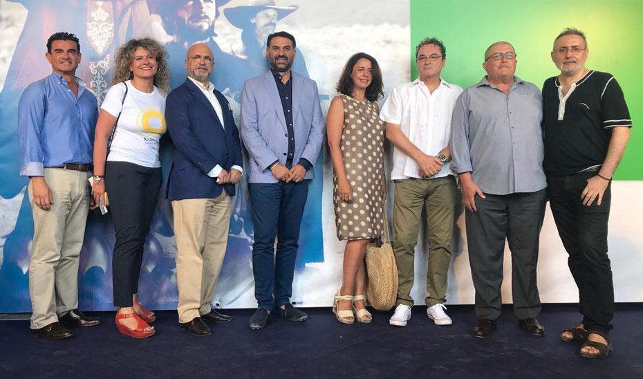 El consejero de Turismo y Deporte, Francisco Javier Fernández, durante la presentación del nuevo portal \u0027Andalucía, Destino de Cine\u0027.