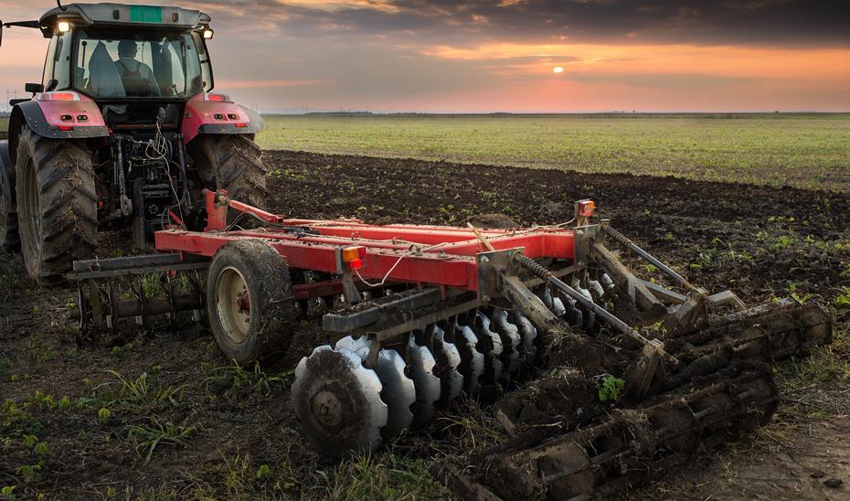 Imagen de un tractor agrícola.