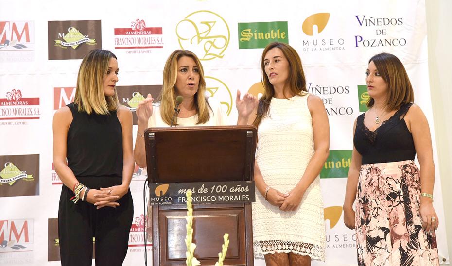Intervención de Susana Díaz durante su visita al Museo de la Almendra en Priego de Córdoba