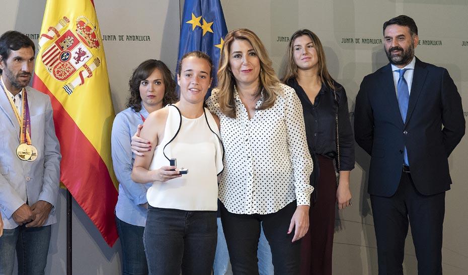 Intervención de la Presidenta de la Junta de Andalucía en la recepción a medallistas