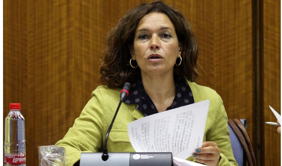 Lina Gálvez, en la Comisión de Conocimiento, Investigación y Universidad del Parlamento