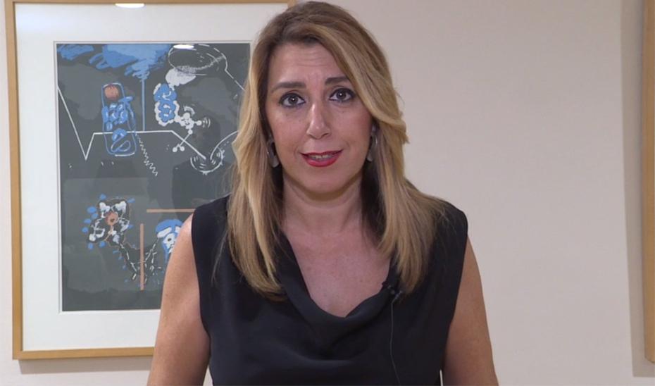 Susana Díaz anuncia que la Ley de Igualdad incorpora la subida de las pensiones mínimas conforme al IPC