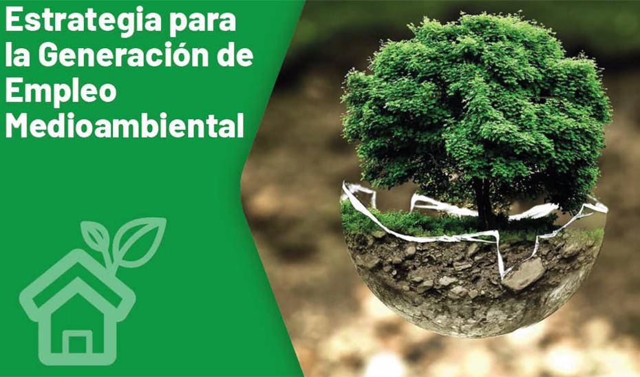 Animación gráfica sobre la Estrategia para la generación de empleo medioambiental