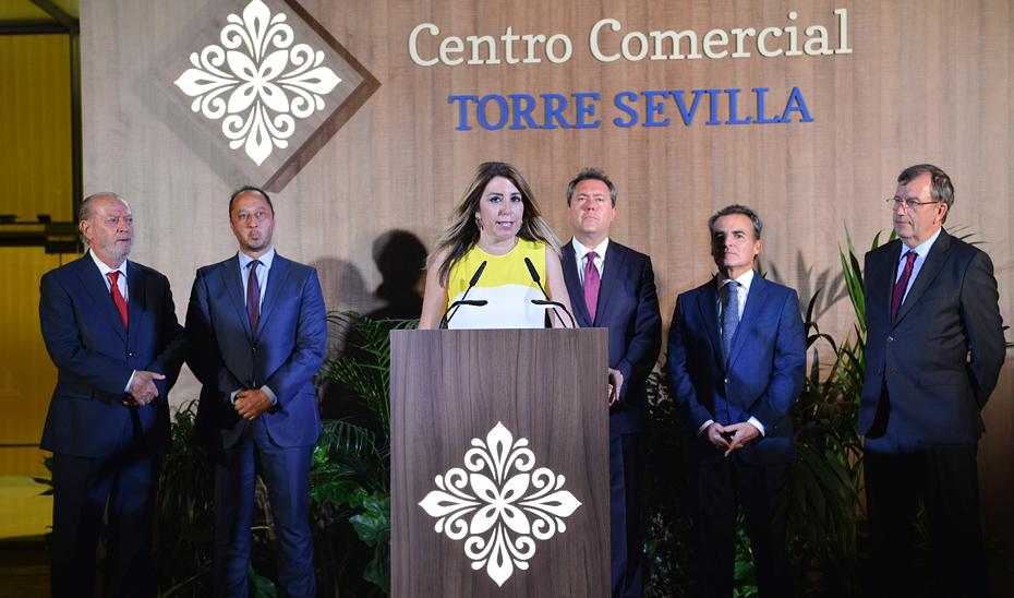 Intervención de Susana Díaz en el acto de inauguración de Torre Sevilla