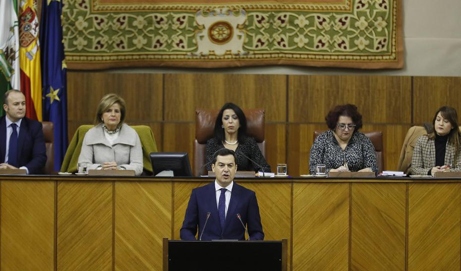 Discurso de investidura del candidato a la Presidencia de la Junta Juan Manuel Moreno