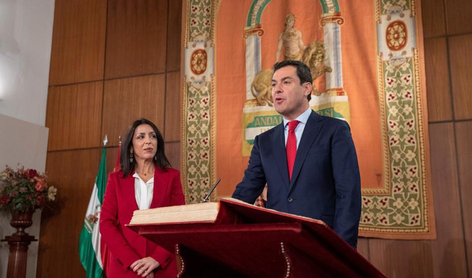 Acto de toma de posesión de Juan Manuel Moreno como presidente de la Junta (audio íntegro)