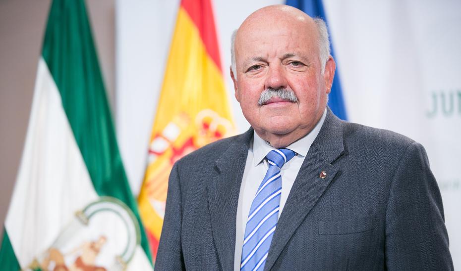 Jesús Aguirre, consejero de Salud y Familias de la Junta.