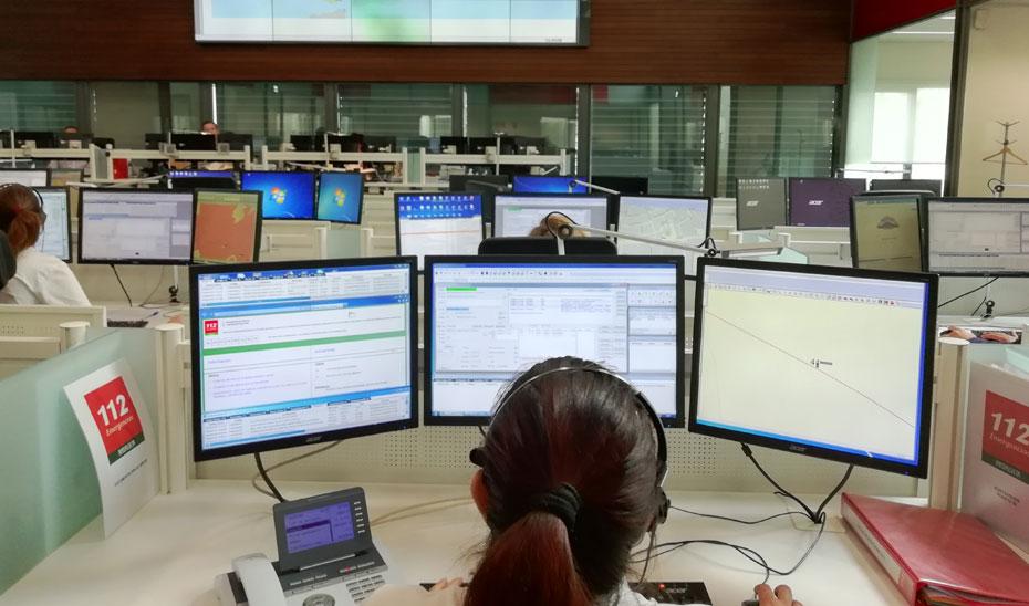 Centro operativo del Emergencias 112 Andalucía en Sevilla.
