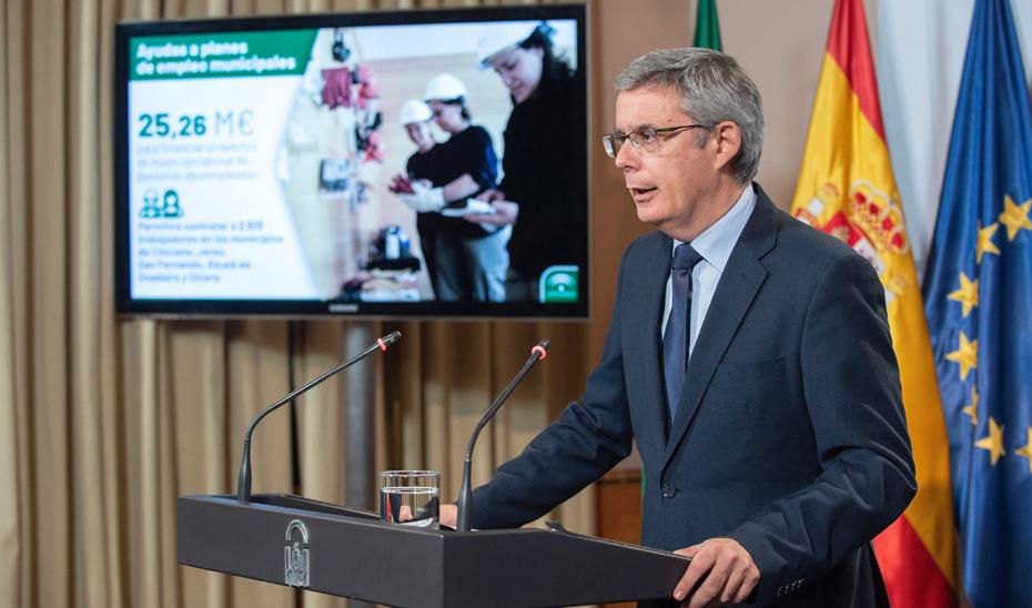 Blanco informa sobre los 25,26 millones para los planes de empleo de cinco ayuntamientos