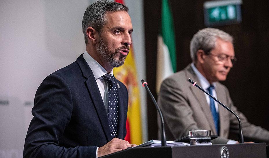 Bravo y Velasco presentan el proyecto de Presupuestos de Andalucía para 2020