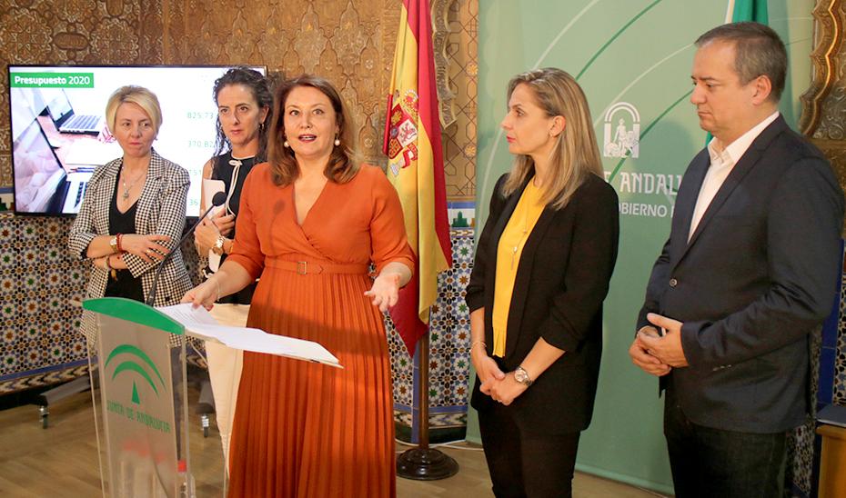 La consejera Carmen Crespo, durante la presentación de los Presupuestos de Andalucía 2020 en Almería.