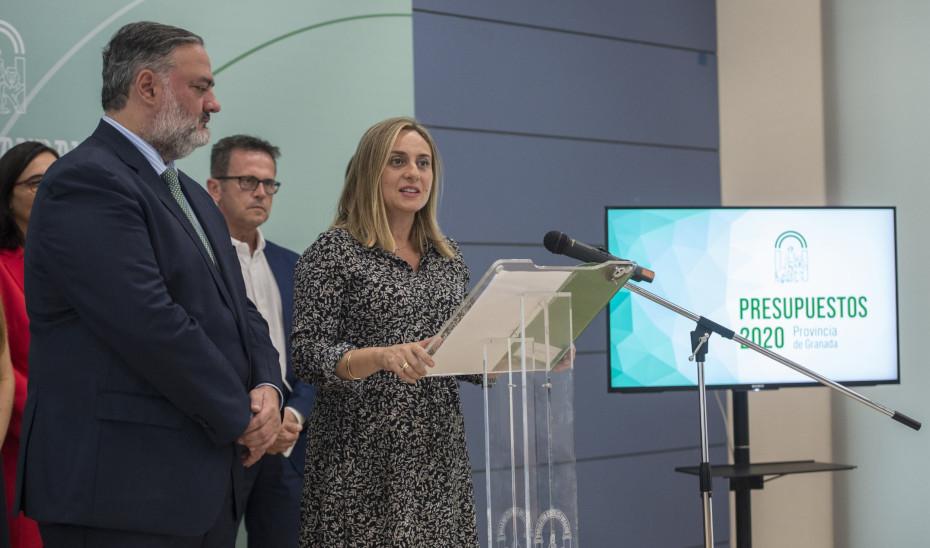 La consejera Marifrán Carazo presenta los presupuestos de Andalucía de 2020 para la provincia de Granada.