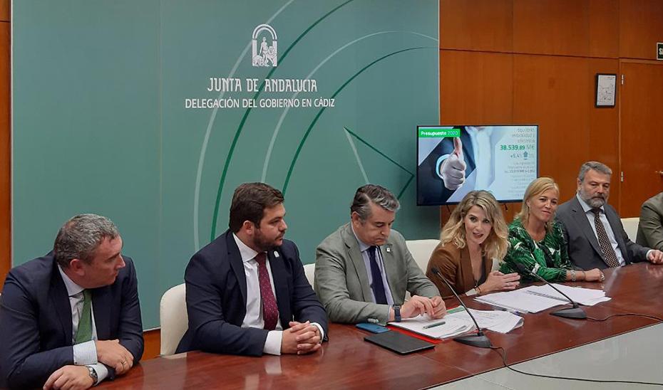 Un momento de la presentación de los presupuestos en la provincia de Cádiz.