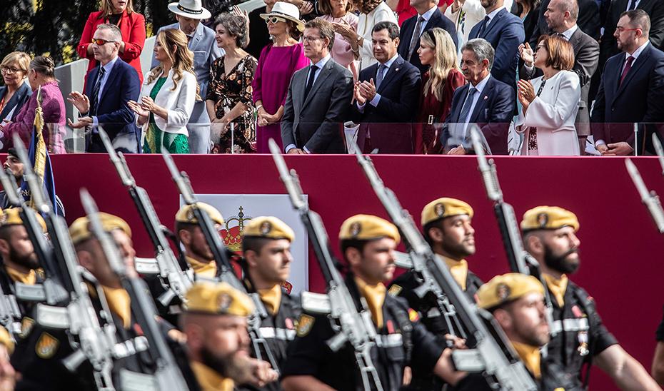 Juanma Moreno asiste a los actos del 12 de Octubre en Madrid