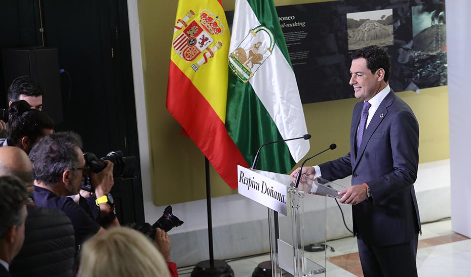 Comparecencia del presidente Juanma Moreno tras el Consejo de Gobierno de Doñana (audio íntegro)