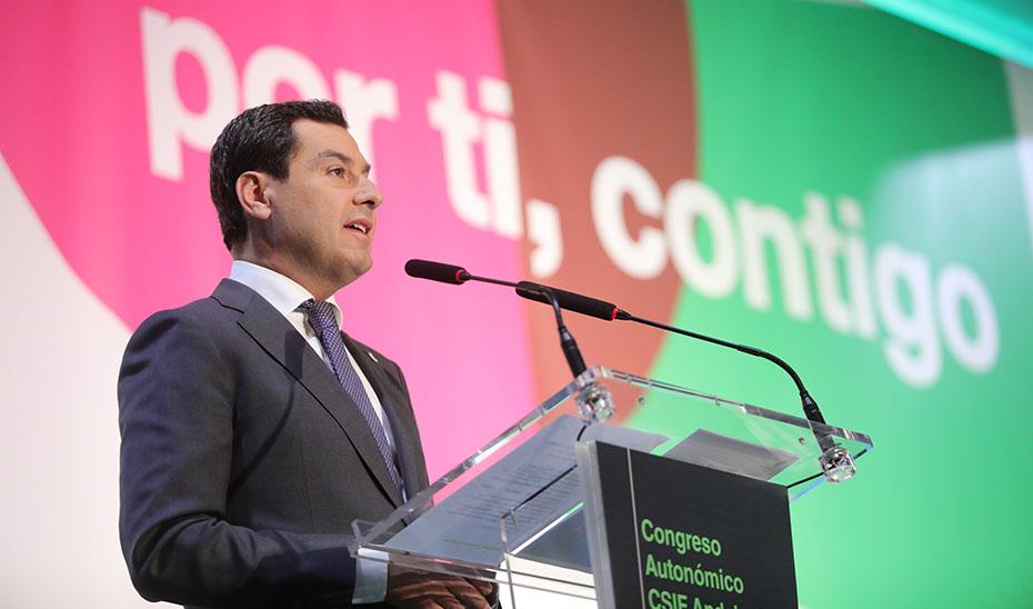 El presidente andaluz asiste al VIII Congreso Autonómico de CSIF Andalucía