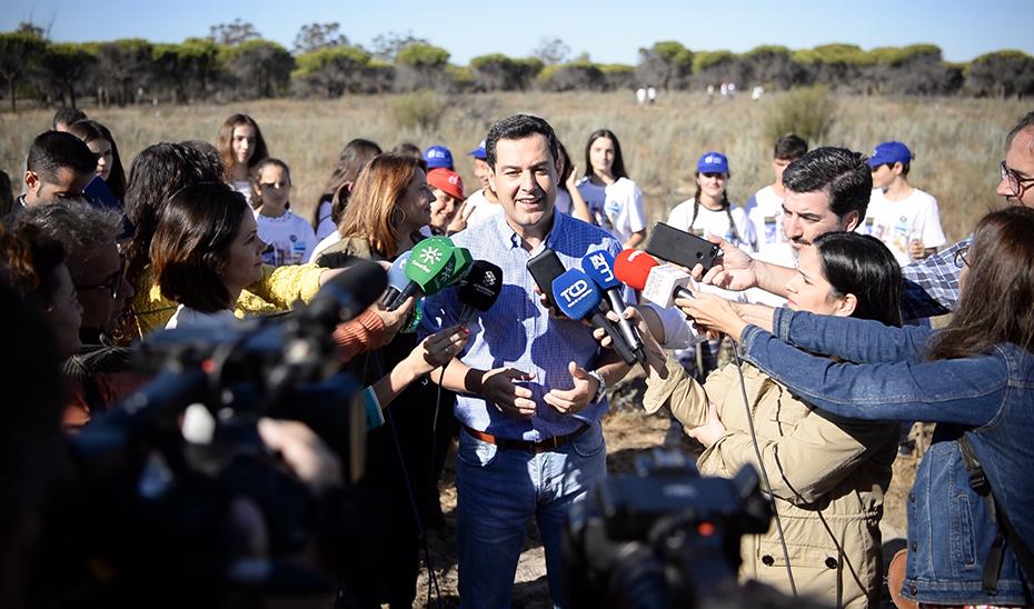 Moreno aboga por la colaboración de todas las administraciones frente al cambio climático