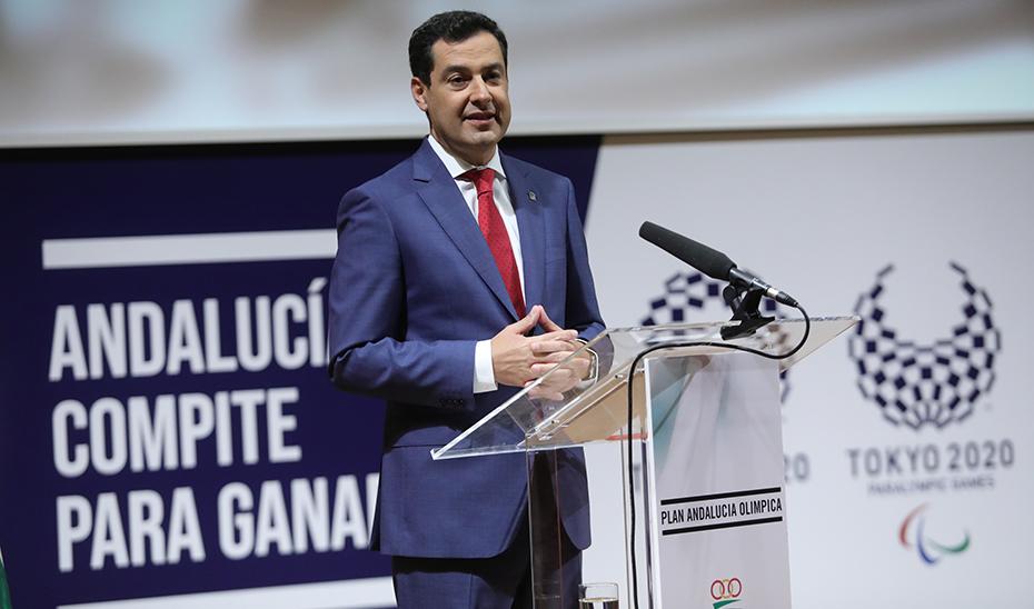 Intervención de Juanma Moreno en la entrega de diplomas del Plan Andalucía Olímpica 2019