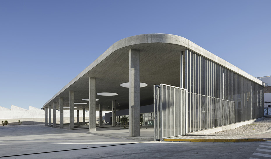 Estación de autobuses de Estepa, municipio de la Sierra Sur de Sevilla.