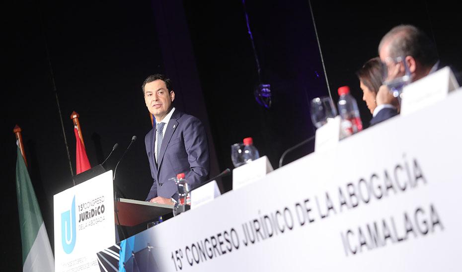 Intervención de Juanma Moreno en el XV Congreso Jurídico de la Abogacía