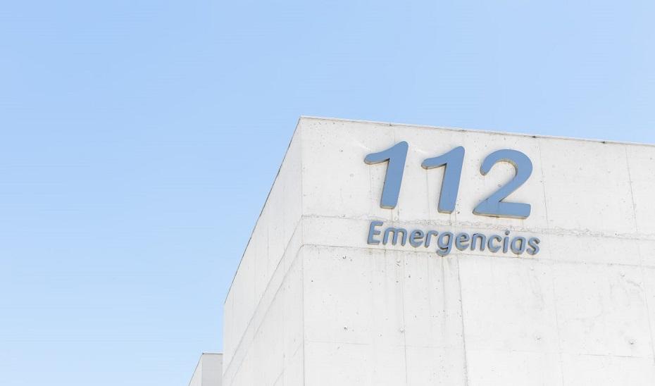 Fachada del centro de Emergencias 112 Andalucía en Sevilla.