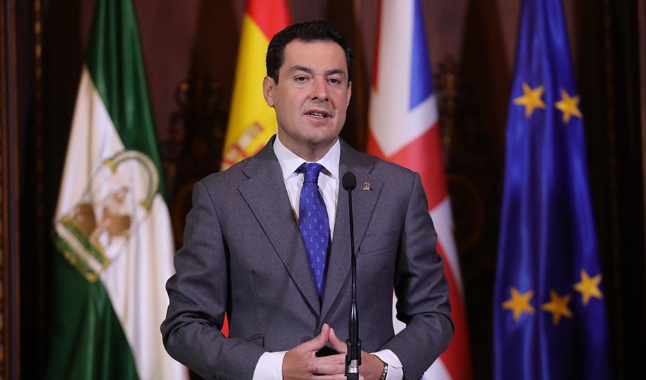 Moreno valora la estrecha relación entre Andalucía y Reino Unido frente al Brexit