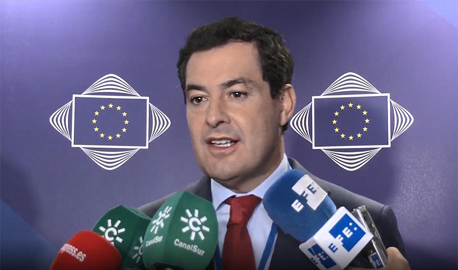 Moreno reivindica la voz de Andalucía en Europa y su influencia en la toma de decisiones