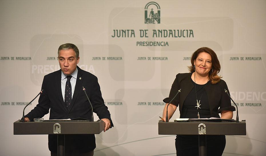 Comparecencia informativa de Elías Bendodo y Carmen Crespo tras la reunión del Consejo de Gobierno (vídeo íntegro)