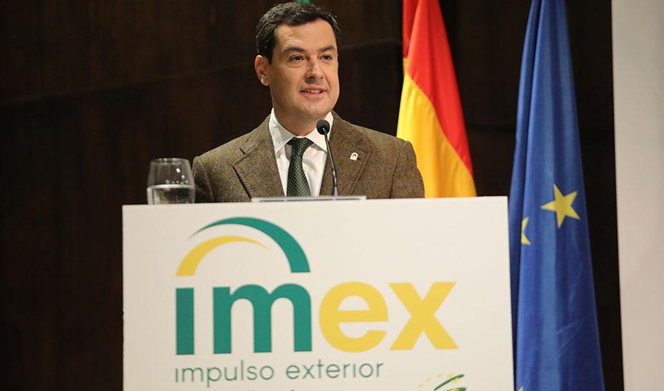 Moreno afirma que Andalucía será un refugio para la inversión ante la incertidumbre económica nacional