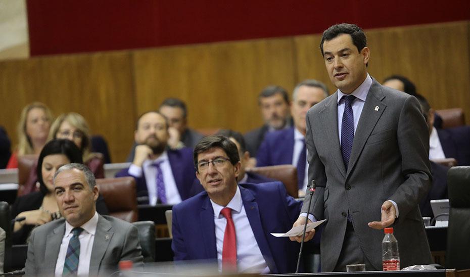 """Moreno asegura que Andalucía es una """"isla de estabilidad"""" frente a la desconfianza que marca la política nacional"""