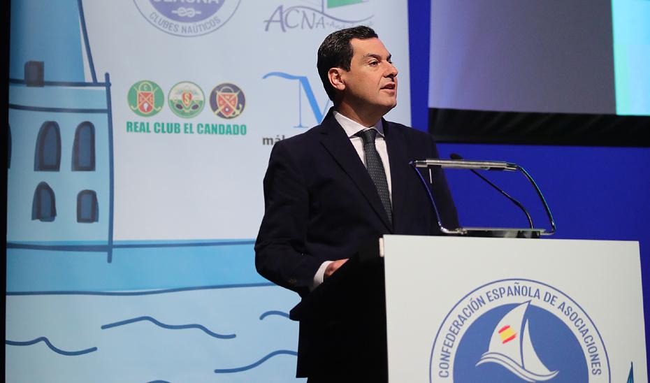 Intervención de Juanma Moreno en la apertura oficial del 4º Simposio Nacional de Clubes Náuticos
