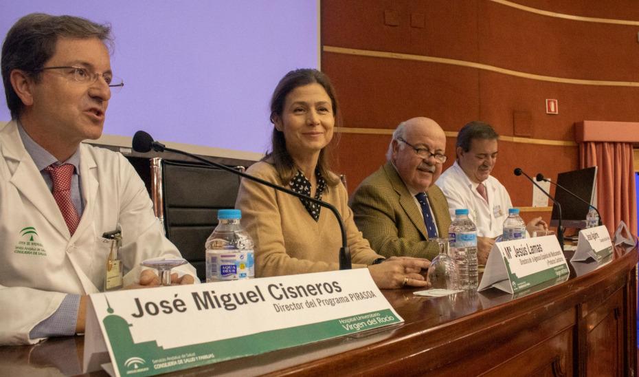 El consejero Jesús Aguirre, en el VII Encuentro Pirasoa con motivo del Día Europeo para el Uso Prudente de los Antibióticos.