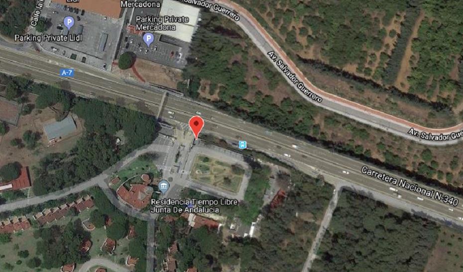 Imagen de satélite del lugar del accidente.