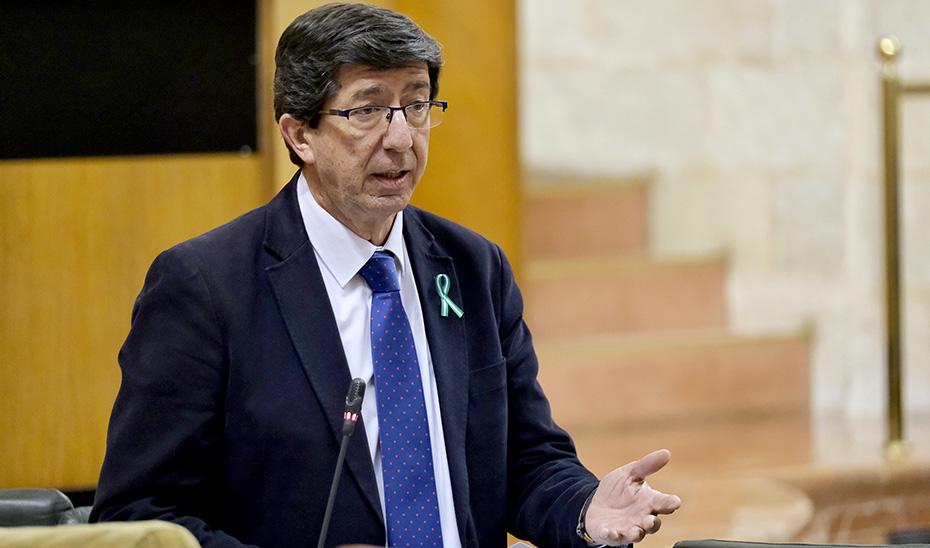 Juan Marín, durante la sesión de control al Parlamento.