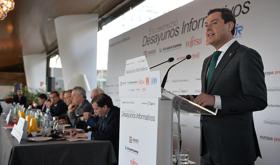 Moreno afirma que el nuevo modelo de gestión que los andaluces propiciaron en las urnas el 2D funciona