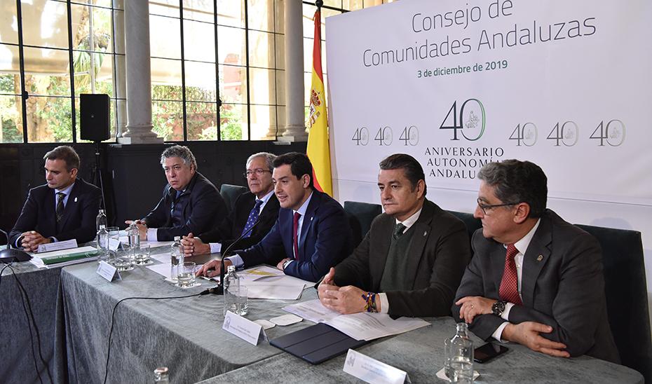Moreno destaca el firme compromiso del Gobierno con las comunidades andaluzas en el exterior y ensalza su labor