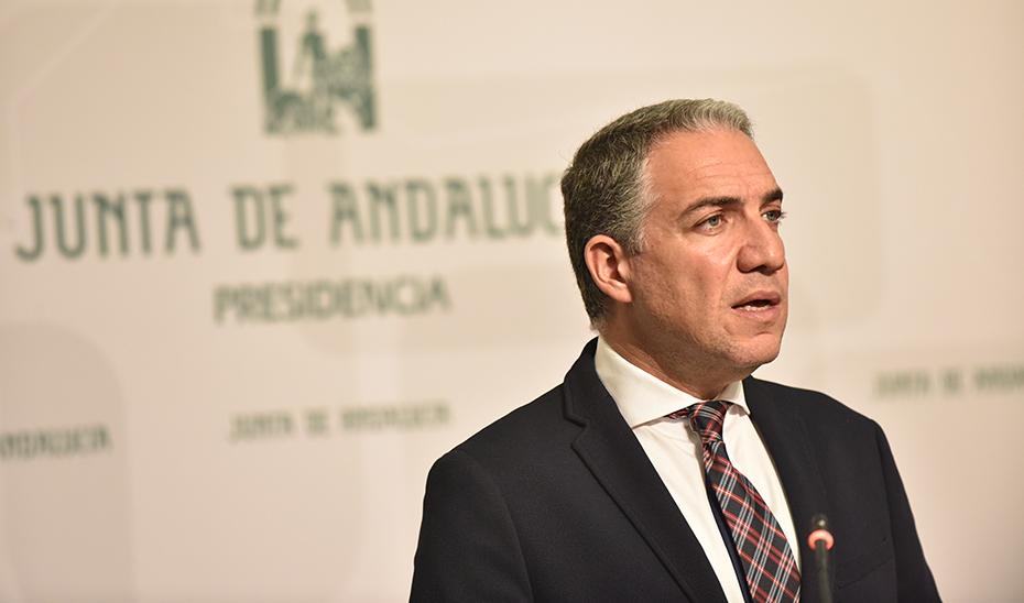 El portavoz del Gobierno explica el plan de formación medioambiental aprobado por el Gobierno andaluz